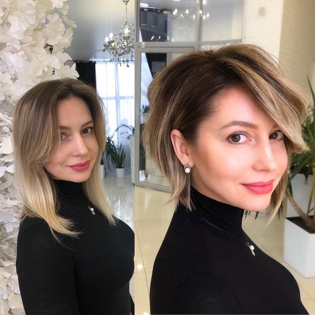 No 1 Hair Platform In Asia On Instagram Hair Haircut Makeover Shorthair By Mila Kryshchykhina Ph Long To Short Hair Womens Hairstyles Short Hair Styles