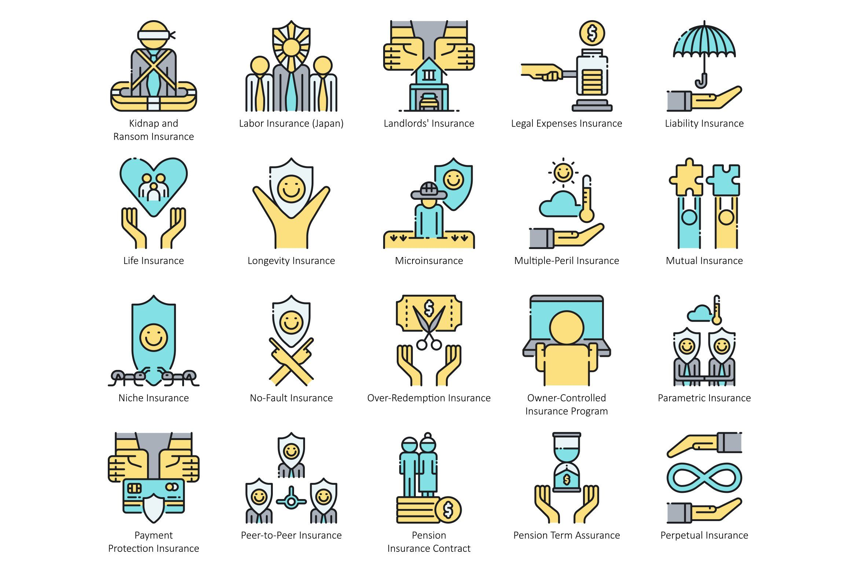 95 Insurance Icons Aqua Income Protection Insurance Bond