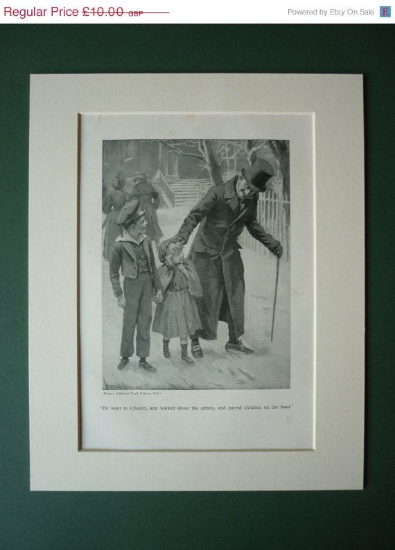 1934 Vintage Print From Charles Dickens' A Christmas Carol ...