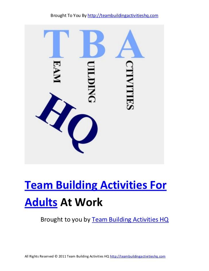 team building activities for adults at work group games