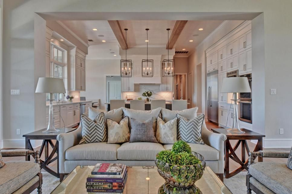 High Ceilings An Open Floor Plan And Lots Of Natural Light Define This Home Understated Furnishings And Spanish Style Homes Spanish Style Decor Spanish Style
