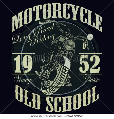 Image by Shutterstock Vintage Motorcycle Cafe Racer Men/'s Tee