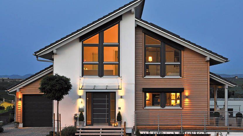 Einfamilienhaus neubau pultdach  Offen gestaltet - E 15-138.2 - SchwörerHaus KG | Hausfasade ...