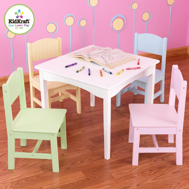 Nantucket Kids 5 Piece Writing Table And Chair Set Kids