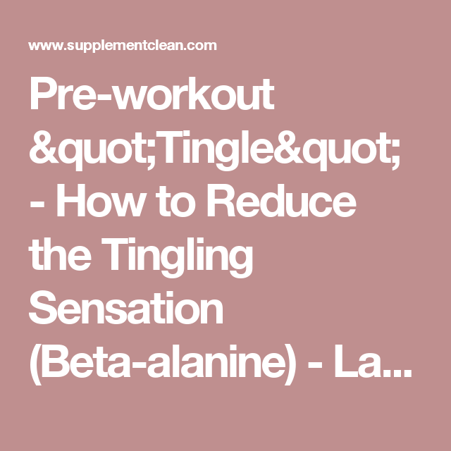 Welcome Supplementclean Com Beta Alanine Preworkout Sensation