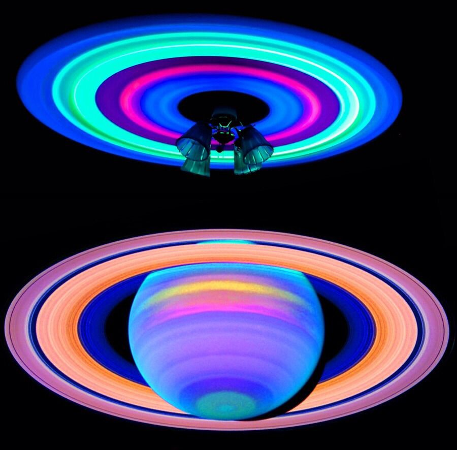 If You Take Some Glow Sticks And Put Them On Ceiling Fan It Will Have This