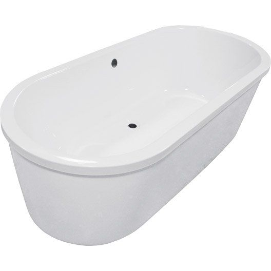 leroy merlin 309 baignoire ilot ovale l 180x l 80 cm blanc osaka tub bathtub armoire