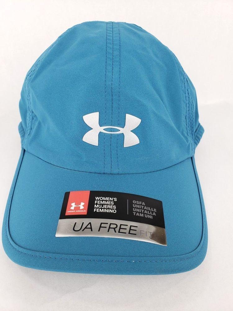 54ffbc77 Under Armour Womens Free Fit Running Hat Cap Blue Adjustable Mesh ...