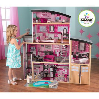 New KidKraft Sparkle Mansion 4 Story Kids Wood Doll House