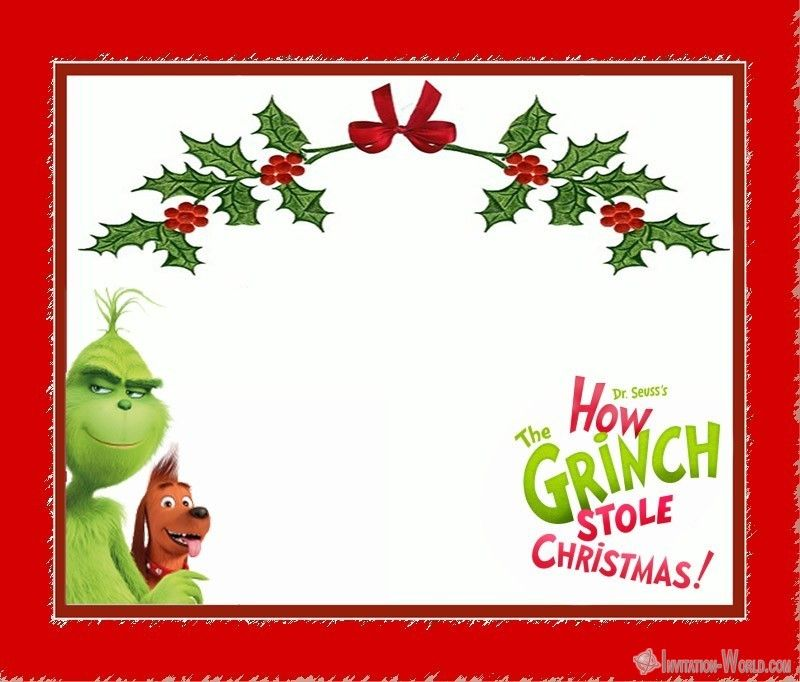 The Grinch 2018 Invitation Cards Invitation World Christmas Invitations Template Christmas Party Invitations Free Fun Christmas Party Ideas
