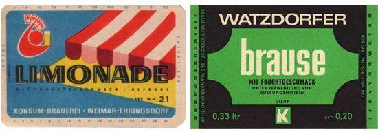 DDR frisdrank etiketten