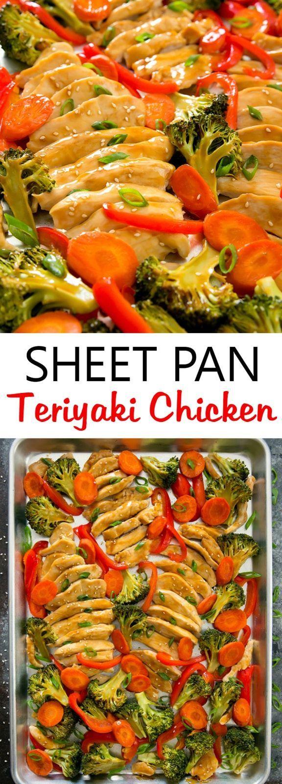 Sheet Pan Chicken Teriyaki #onepandinners