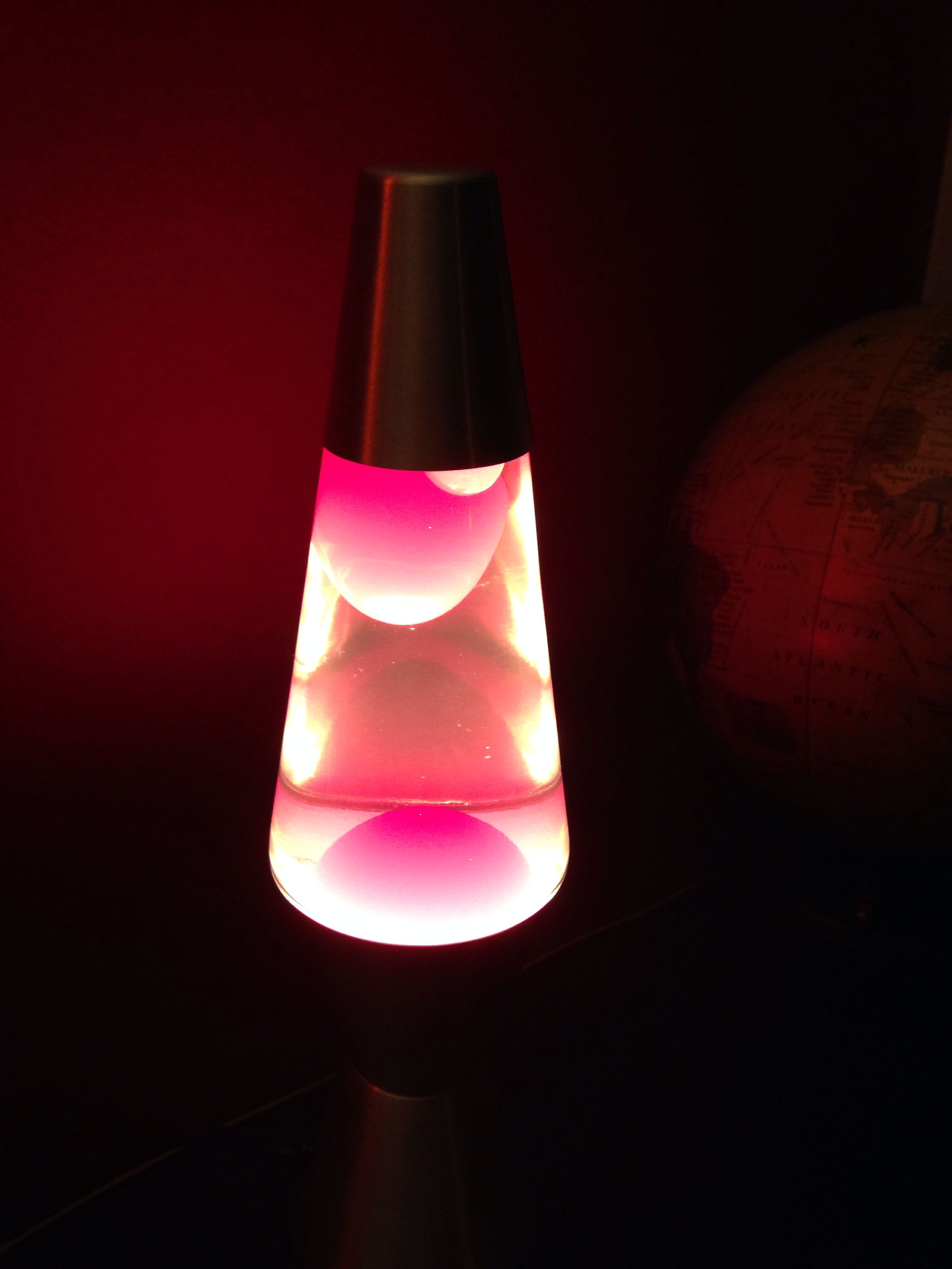 11 Inch Lava Lamp Clear Liquid Red Wax Lava Lamp Lamp Novelty Lamp