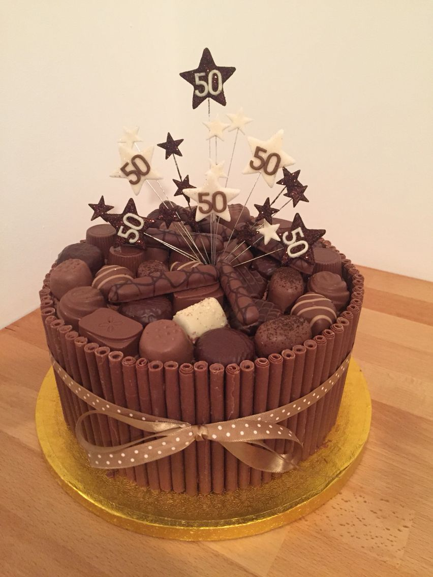 Chocolate Cigarello 50th Birthday Cake Pinteres