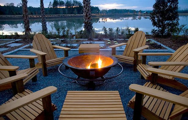 HGTV Green Home 2008: The Best Indoor And Outdoor Photos. Adirondack ChairsFire  Pit ...