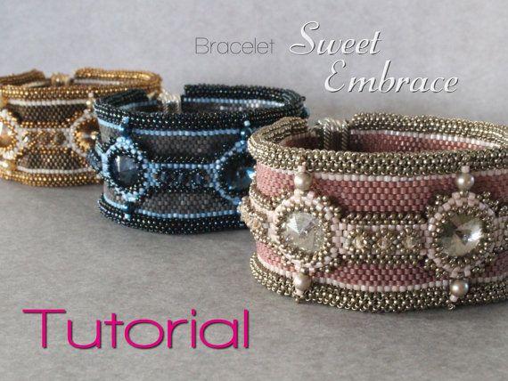 Tutorial for beadwoven peyote bracelet 'Sweet von TrinketsBeadwork