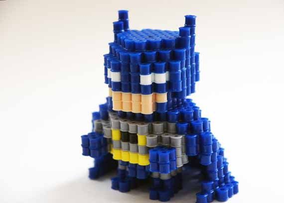 Batman Perler Beads 3D figure