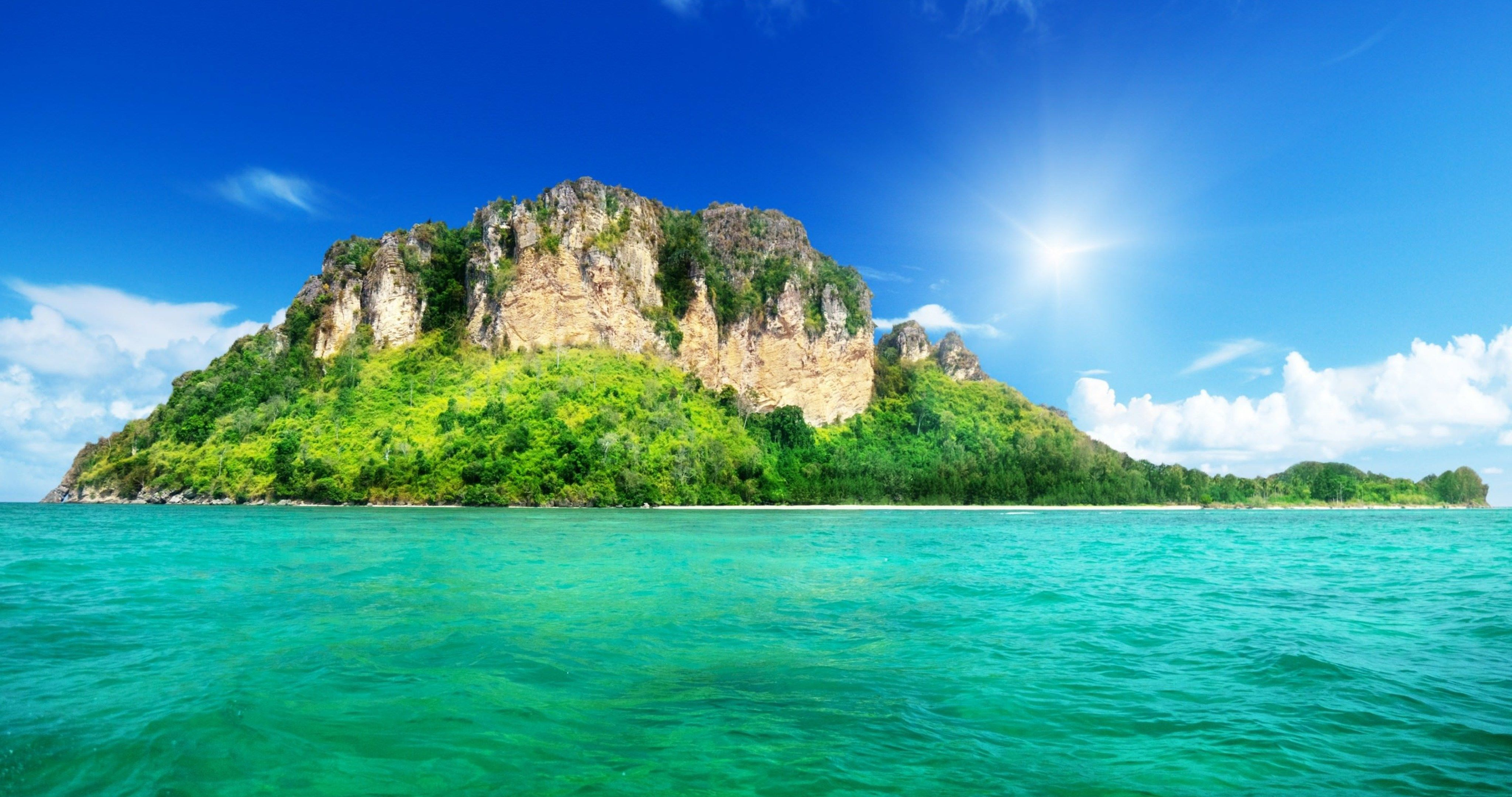 landscape nature island 4k ultra hd wallpaper (With images