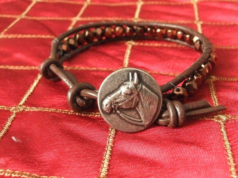 Horse lovers wrap bracelet.. $25.00, via Etsy.