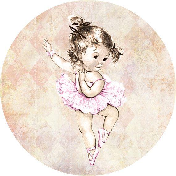 Ballerina Vintage Baby Shower For Girl 2 Cupcake By JjMcBean 500