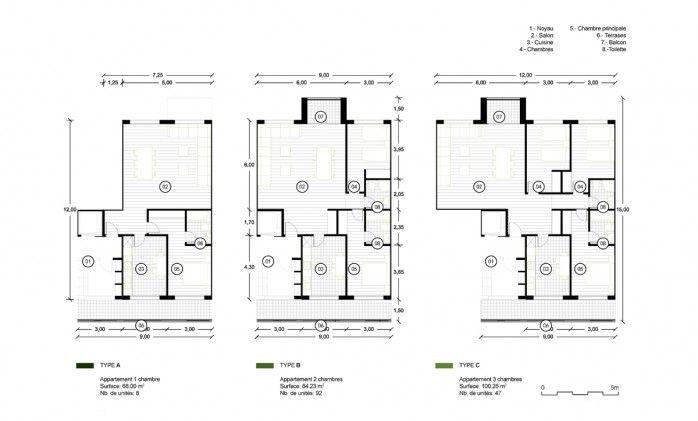 AQSO residencial anfa, unidades de vivienda, pisos de dos y tres dormitorios, planta y distribución