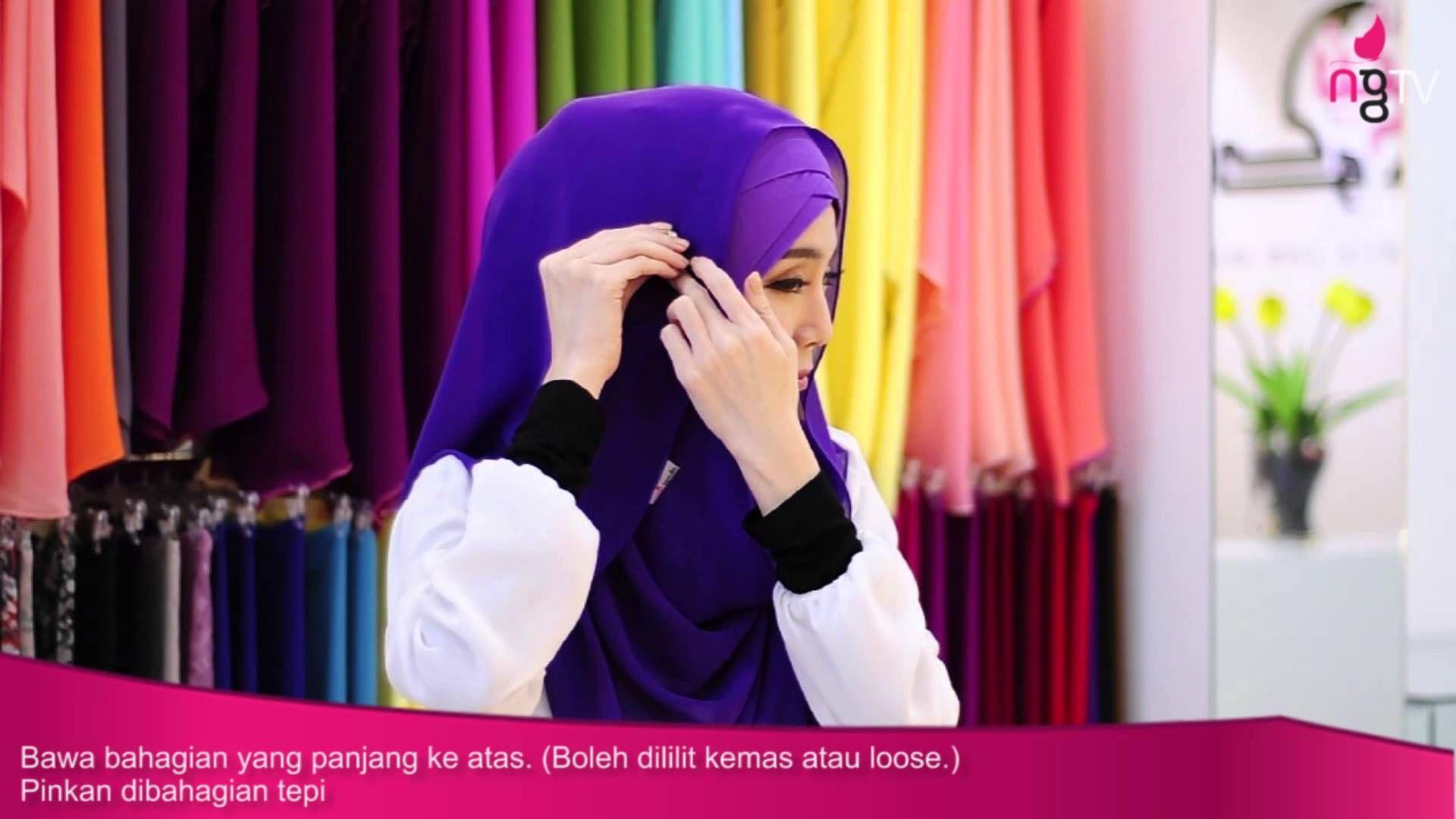 Neng Geulis Hijab Tutorial 3 Laxine Shawl By Felixia Yeap