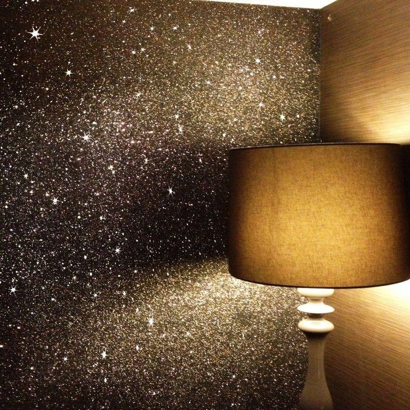 glitter wallpaper - sparkle - shades of brown glitter wallcovering