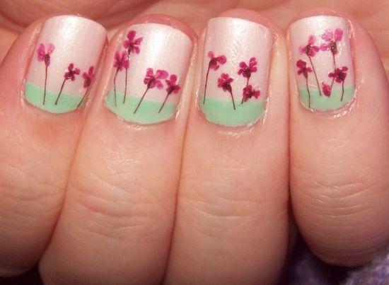 decoration ongles printemps