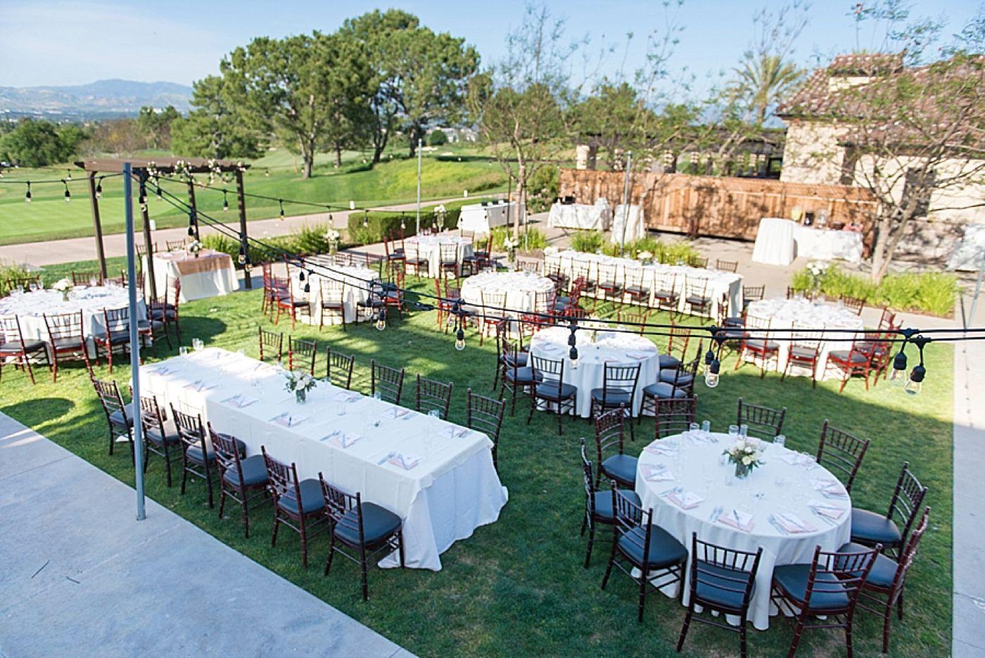 Aliso Viejo Country Club Wedding Outdoor Ceremony On Lawn