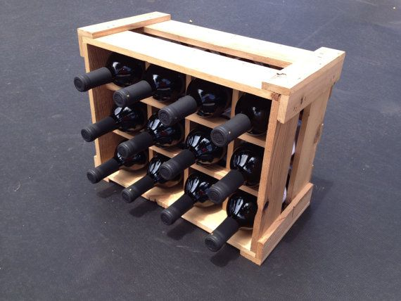 handcrafted wine racks made from repurposed and reclaimed wood
