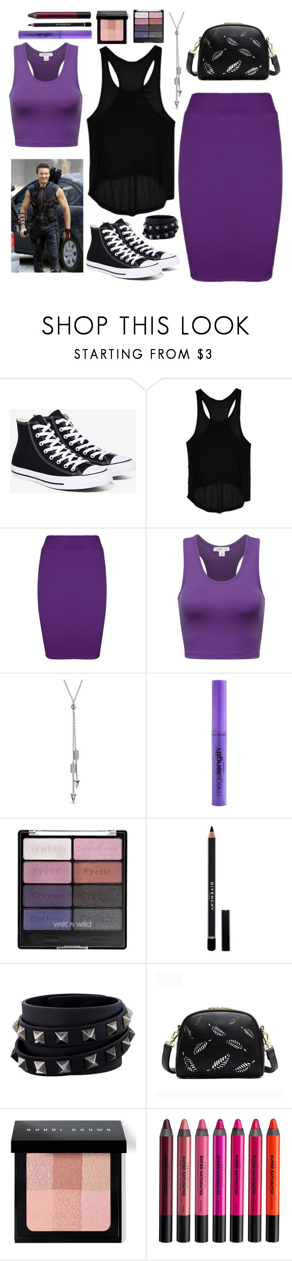 """Hawkeye"" by meeshtell ❤ liked on Polyvore featuring Converse, Go Green M by M, Bling Jewelry, Givenchy, Valentino, Bobbi Brown Cosmetics and Urban Decay"