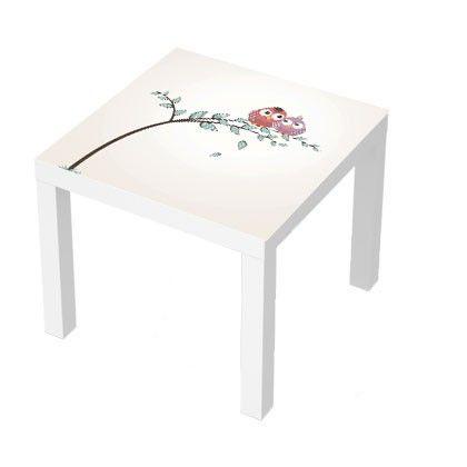 Stickers Pour Table Basse Lack 55x55 Lovely Birds Design Deco