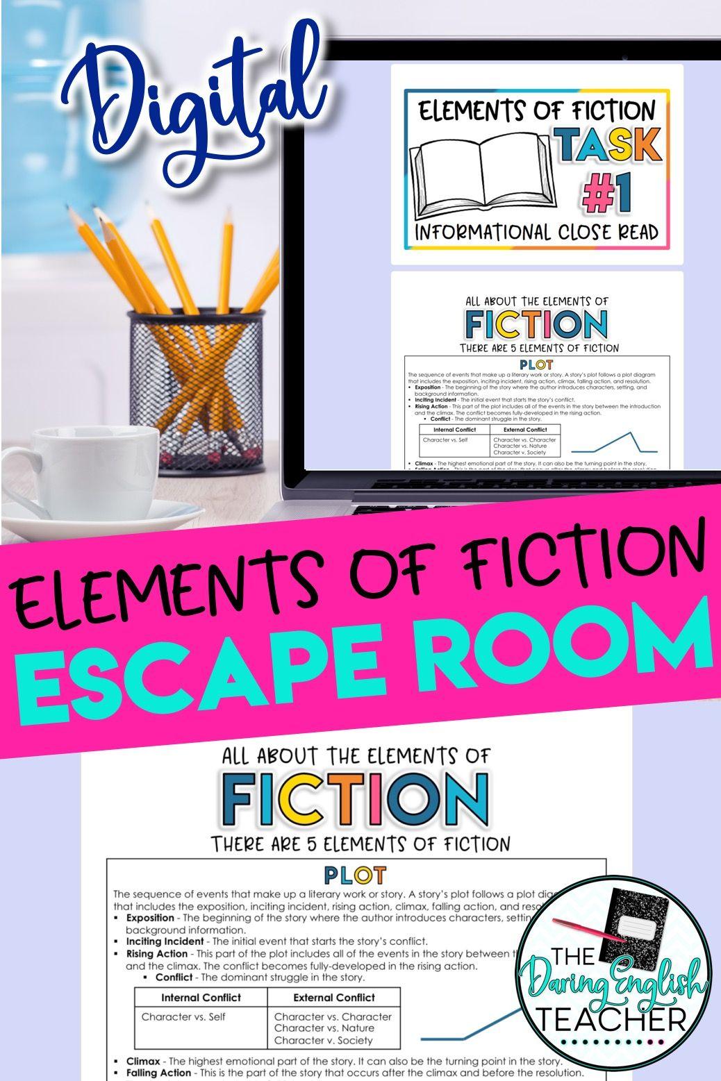 Smarteplans Elements Of Fiction Escape Room Activity