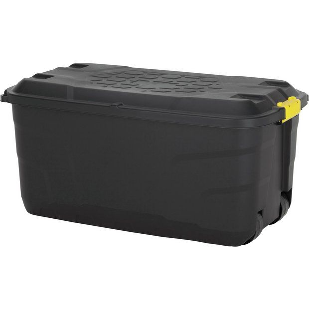 Buy HOME 145 Litre Heavy Duty Storage Trunk on Wheels at Argos.co.uk  sc 1 st  Pinterest & Buy HOME 145 Litre Heavy Duty Storage Trunk on Wheels at Argos.co.uk ...