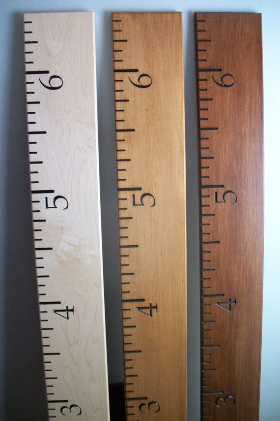 Maple Wood Ruler Growth Chart Engraved Personalizing Available
