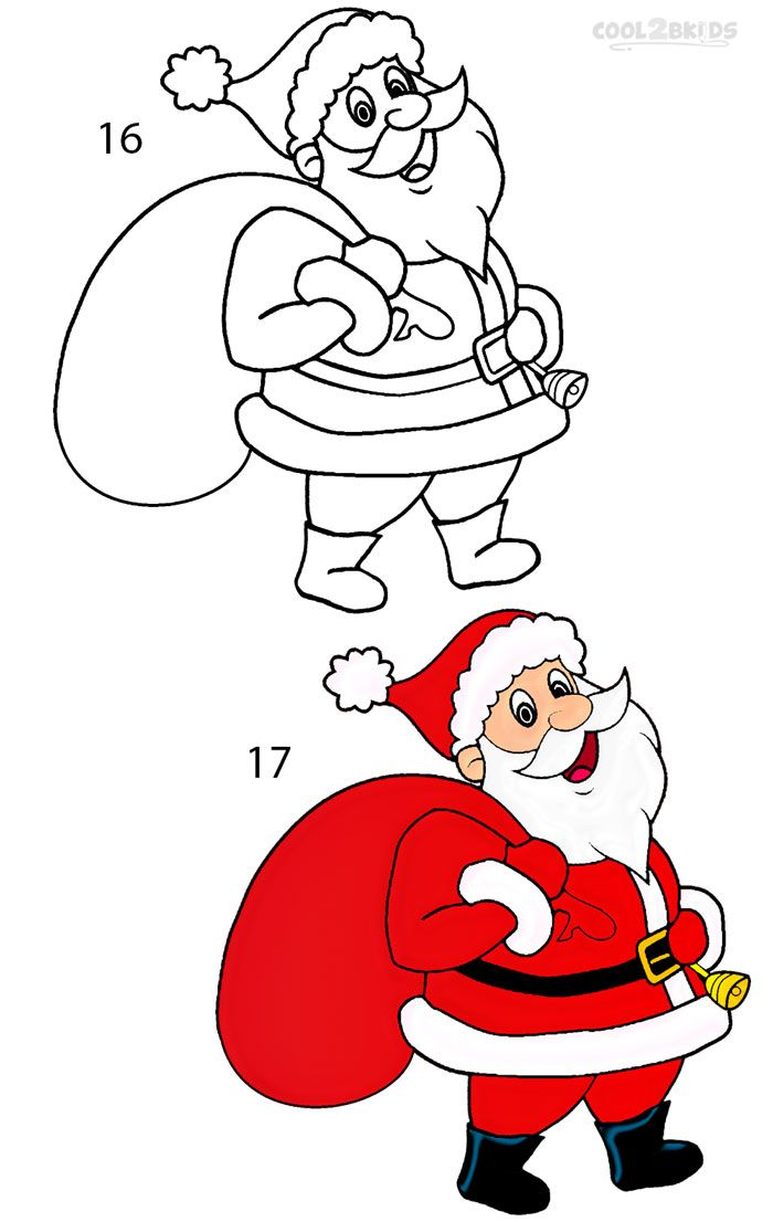 How To Draw Santa Clause Step 8 Santa Claus Drawing Easy Easy Christmas Drawings Christmas Drawing