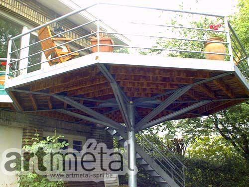 Art Métal - Structures et terrasses  Loverval maison  terrasse