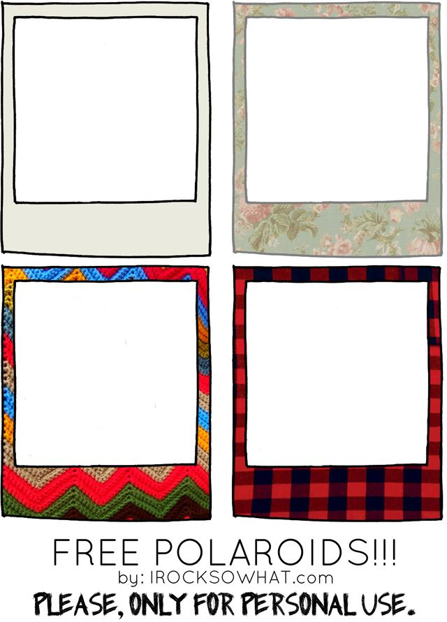blog freebies download free polaroid frames from www. Black Bedroom Furniture Sets. Home Design Ideas
