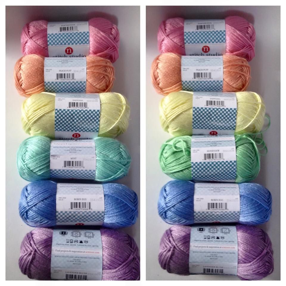 This is stitch studio storybook yarn sold only at AC Moore  COLORS