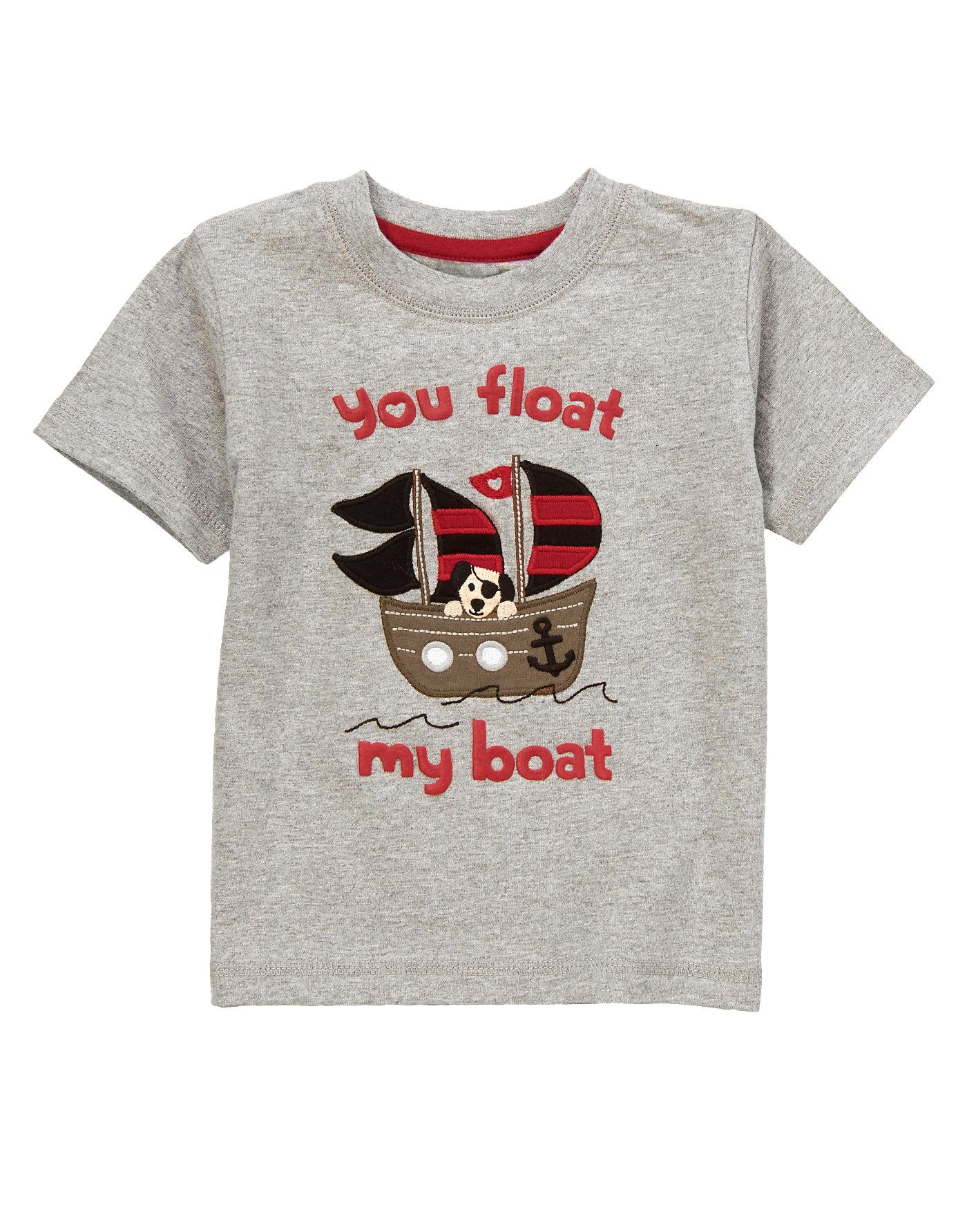86e91de97ce Dress your little cupid in our lovey dovey pirate dog tee. Cute heart  details make our look fit for a Valentine s play date.