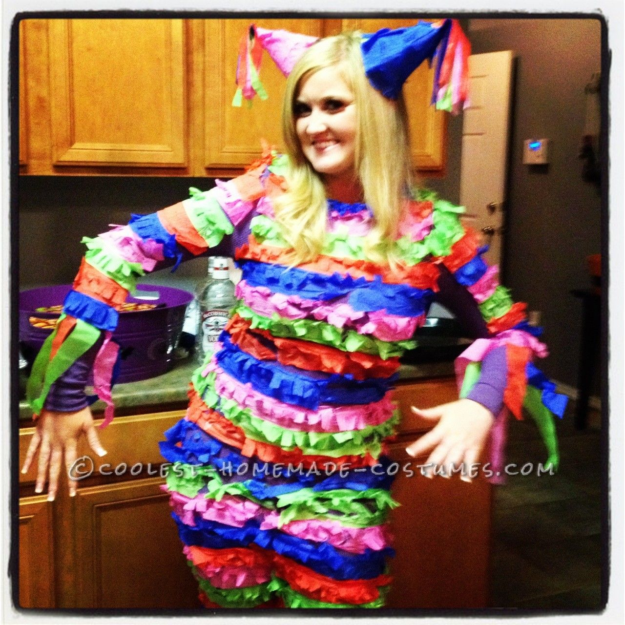 best homemade pinata costume for a woman | coolest homemade costumes