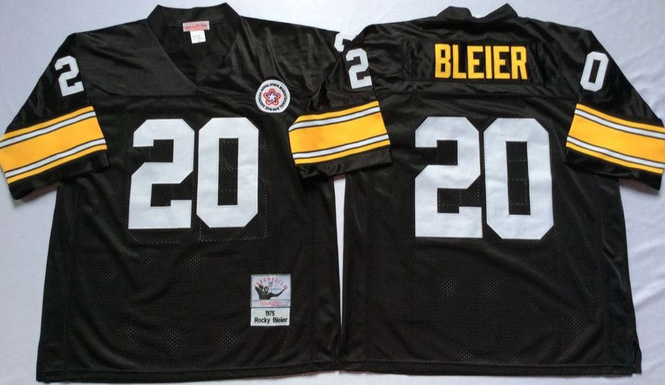 lowest price 10a44 3cf09 Steelers 20 Rocky Bleier Black Throwback Jersey | Pittsburgh ...