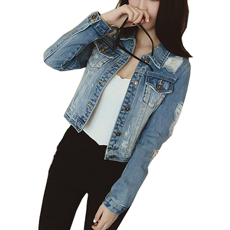 Women S Clothing Coats Jackets Vests Denim Jackets Womens Ripped Jean Jacket Juniors Button Vintage Petite Denim Jacket Womens Ripped Jeans Denim Jacket [ 1500 x 1500 Pixel ]