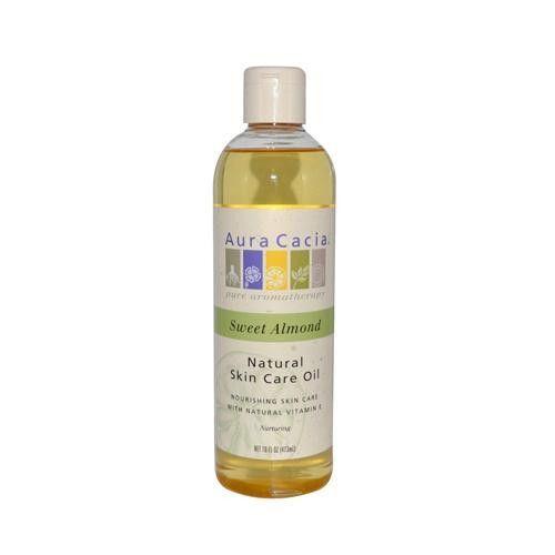 Aura Cacia Natural Skin Care Oil Sweet Almond - 16 Fl Oz