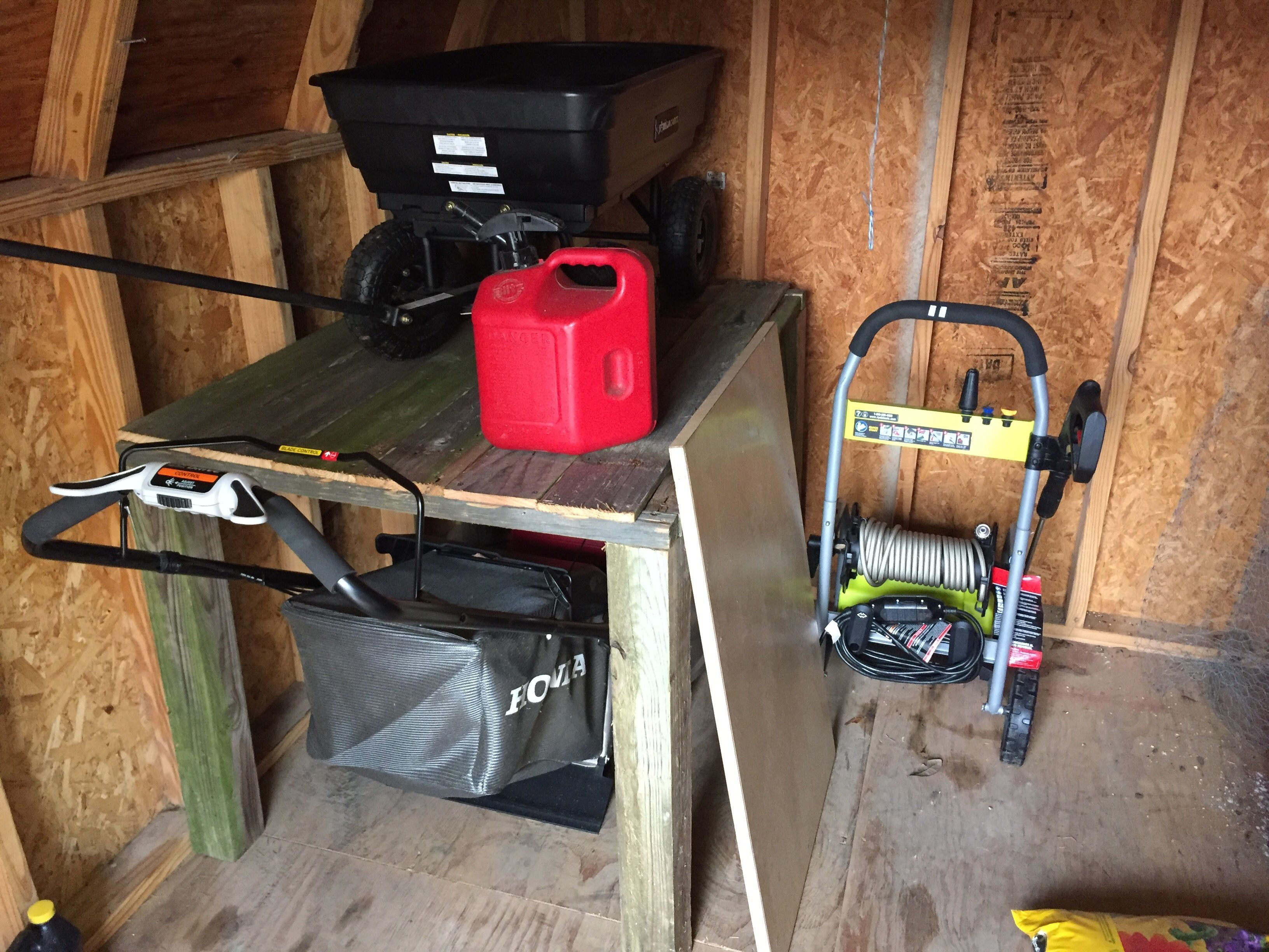 Lawnmower Storage For Shed Or Garage To Open Up Space.