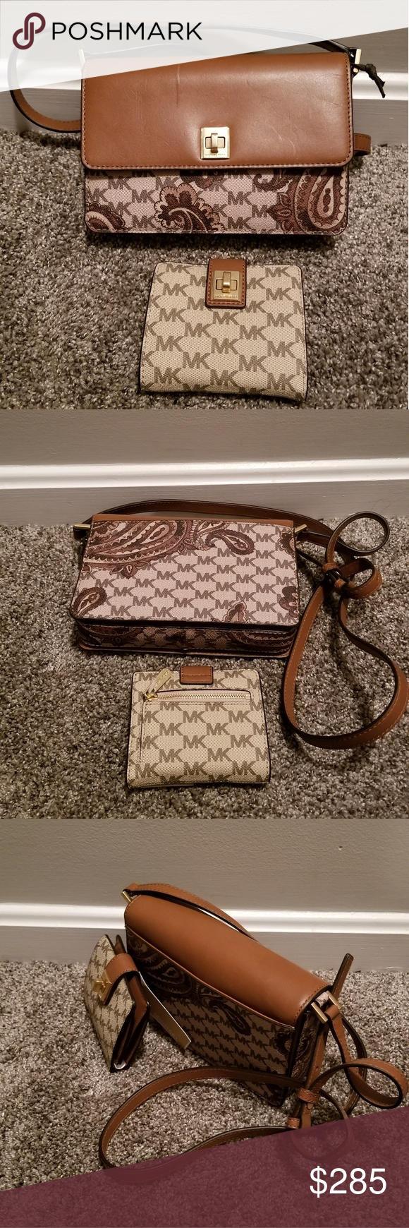 8dcff0541ee1 Michael Michael Kors Messenger and Wallet Michael Kors Paisley Natalie Md  Messenger Bag (Luggage)