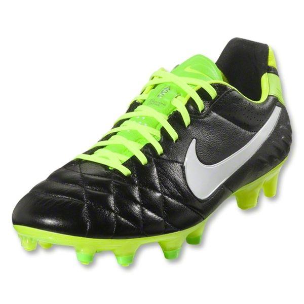 Nike Tiempo Legend Iv Fg 454316 013 143 99 Black Electric Green White Soccer Shoes Nike Shoes
