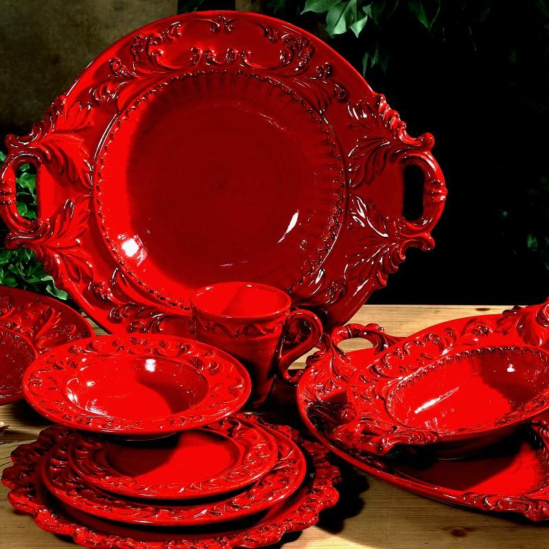 Red Dinner Plates Set Best Plate 2018 & Red Dining Plate Sets - Dining room ideas