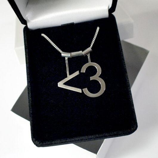 Ascii Heart Necklace Geek Chic Jewelry Geek Stuff Style