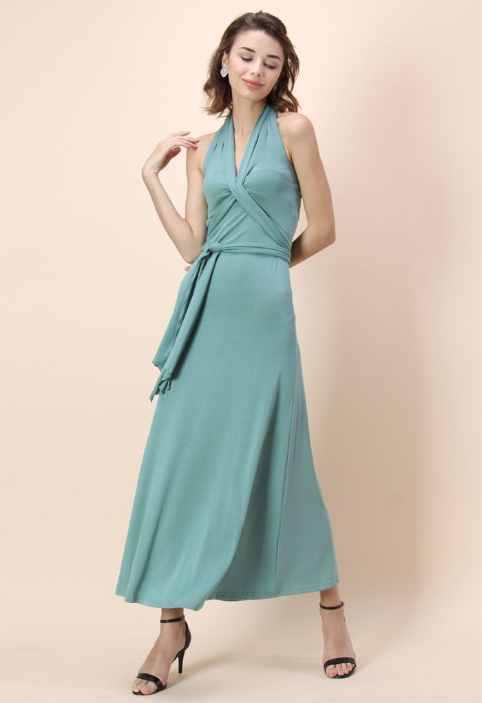 Seaside Mood Self-tie Maxi Dress - New Arrivals - Retro, Indie and Unique Fashion